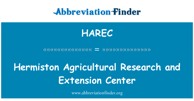 HAREC: Hermiston Agricultural Research and Extension Center