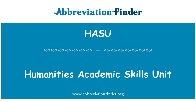 HASU: Humanities Academic Skills Unit