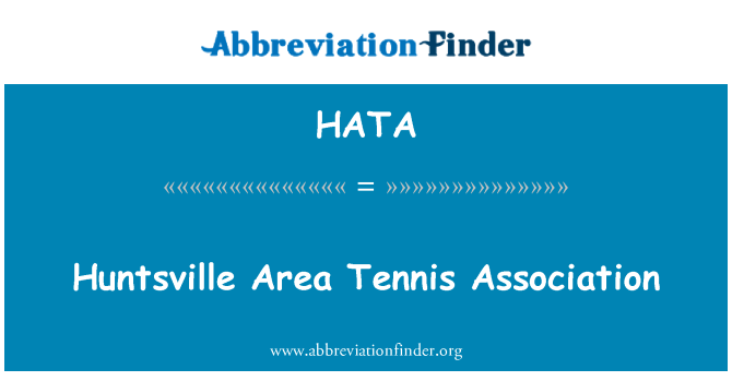 HATA: Huntsville Area Tennis Association