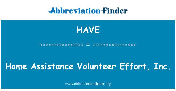 HAVE: Casa asistencia voluntaria esfuerzo, Inc.