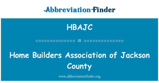 HBAJC: Izgradnja kuća udruga okruga Jackson
