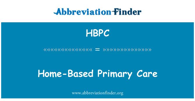 HBPC: Atención primaria en el hogar