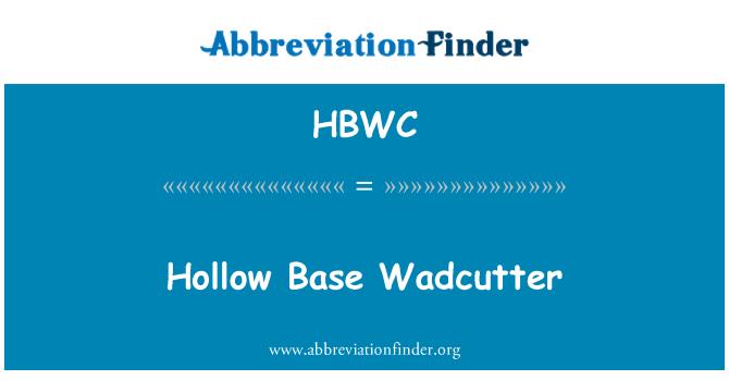 HBWC: Hollow Base Wadcutter