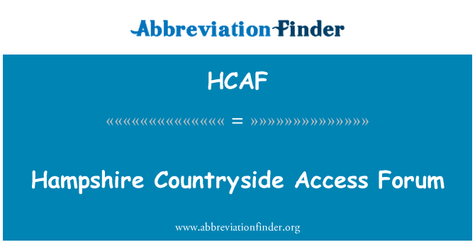 HCAF: Hampshire Countryside Access Forum