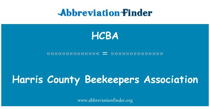 HCBA: Harris County Beekeepers Association