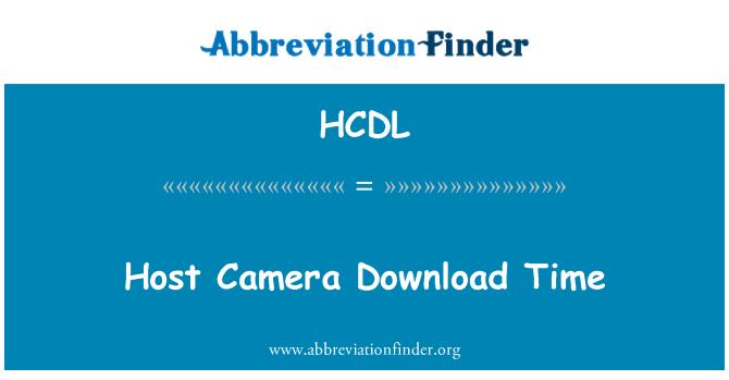 HCDL: Host Camera Download Time