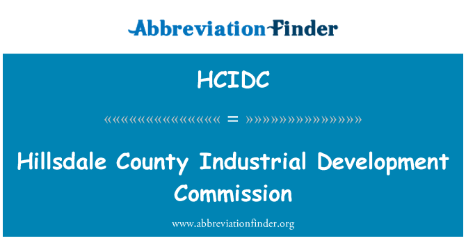HCIDC: Hillsdale County Industrial Development Commission