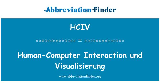 HCIV: Human-Computer Interaction und Visualisierung