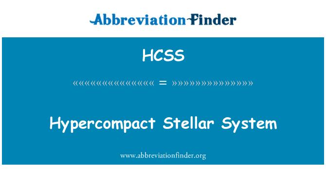 HCSS: Sistema estelar Hypercompact
