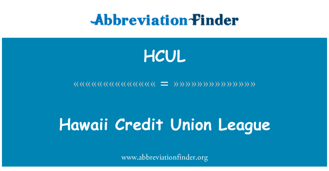 HCUL: Hawaii Credit Union League