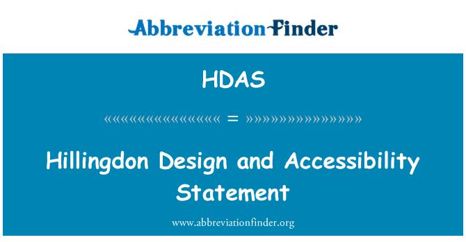 HDAS: Hillingdon tasarım ve erişilebilirlik deyim
