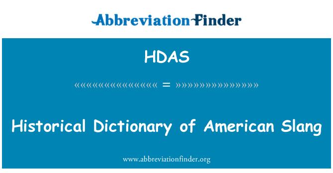 HDAS: Tarihsel Amerikan argo sözlüğü