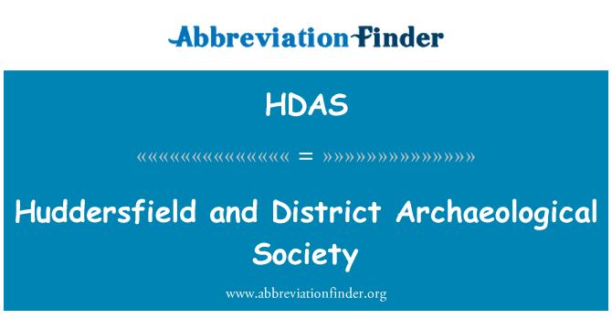 HDAS: Huddersfield ve Bölgesi Arkeoloji Derneği