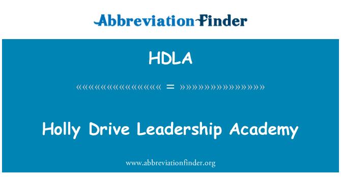 HDLA: Holly Drive Leadership Academy
