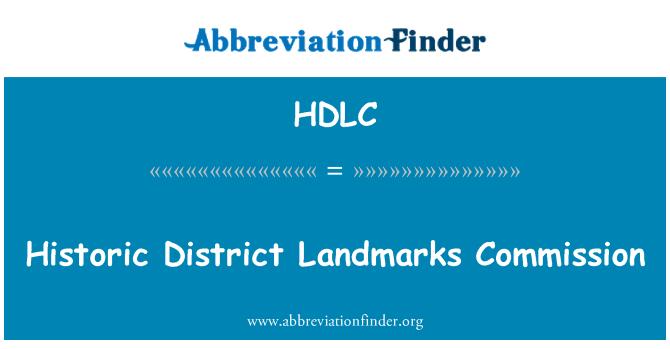HDLC: Comisión de monumentos históricos Historic District