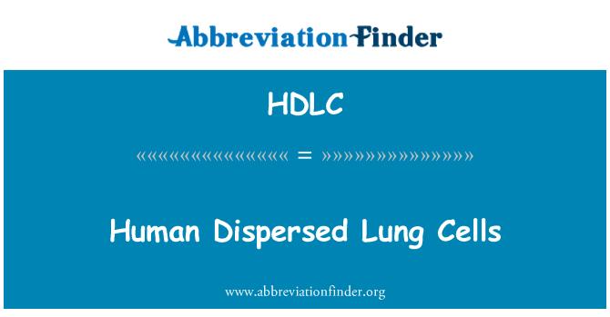 HDLC: Células pulmonares humanas dispersas