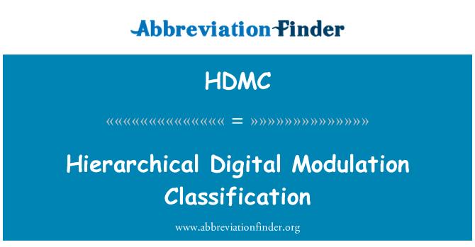 HDMC: Hierarchical Digital Modulation Classification
