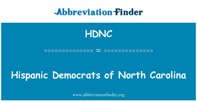 HDNC: Demócratas hispanos de Carolina del norte