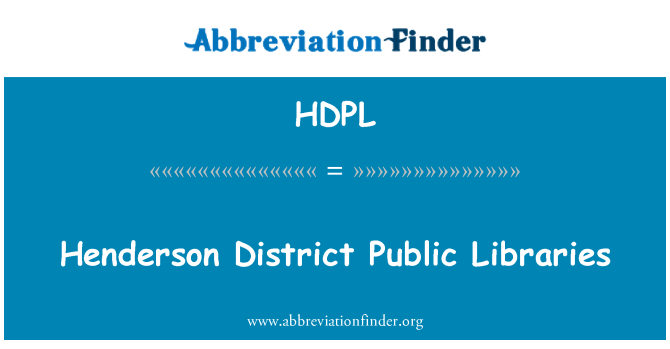 HDPL: Henderson District Public Libraries