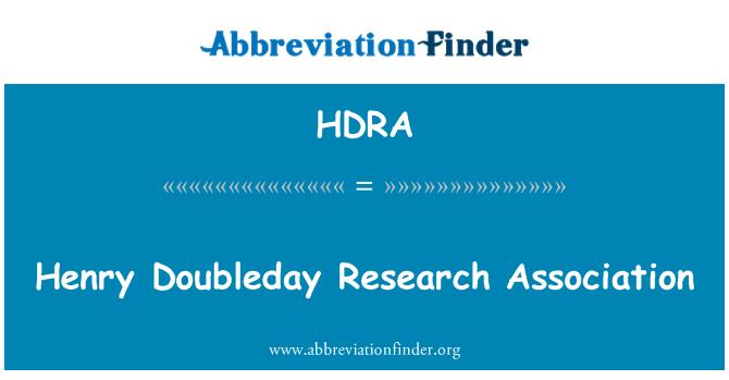 HDRA: Persatuan Penyelidikan apabila Henry