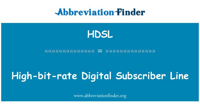 HDSL: Línea de abonado Digital de alta velocidad binaria
