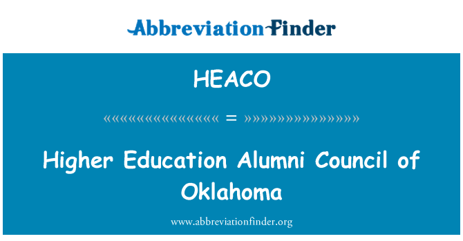 HEACO: Higher Education Alumni Council of Oklahoma
