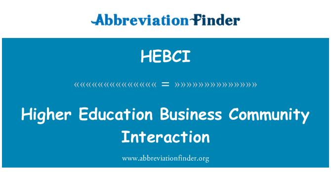 HEBCI: Interacción de comunidad de negocios de educación superior