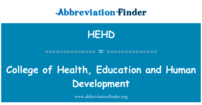 HEHD: College of Health, Education and Human Development
