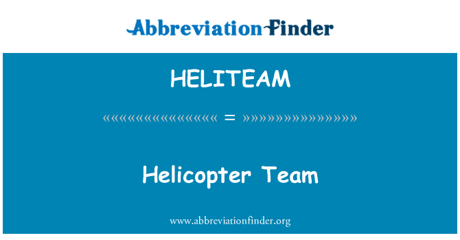 HELITEAM: Helicopter Team
