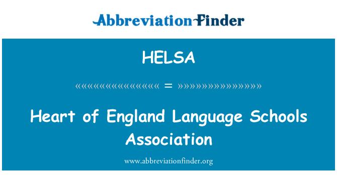 HELSA: Heart of England Language Schools Association