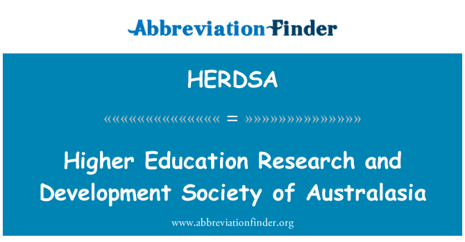 HERDSA: Higher Education Research and Development Society of Australasia