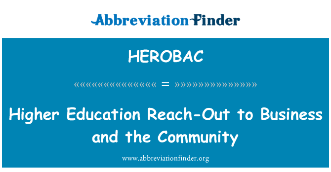 HEROBAC: Higher Education Reach-Out to Business and the Community