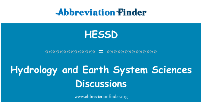 HESSD: Hydrology and Earth System Sciences Discussions