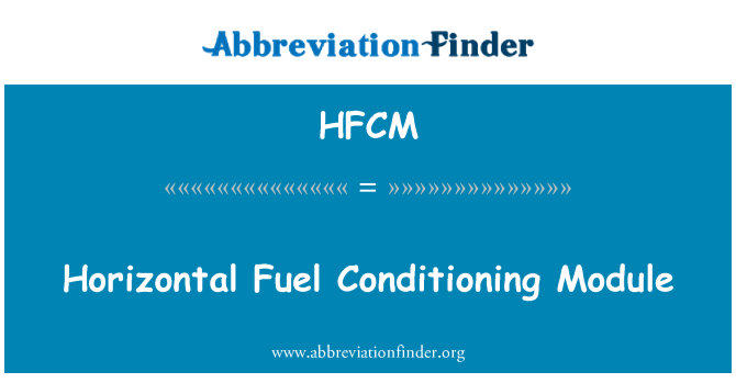 HFCM: Horizontal Fuel Conditioning Module