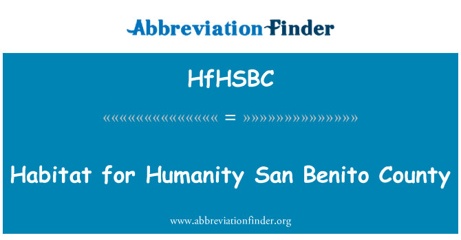 HfHSBC: Habitat for Humanity San Benito County