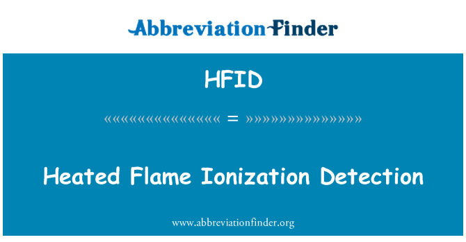 HFID: Heated Flame Ionization Detection