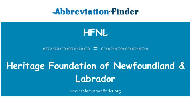 HFNL: Heritage Foundation of Newfoundland & Labrador