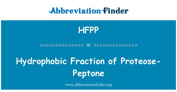 HFPP: Fracción hidrofóbico de Proteosa-peptona