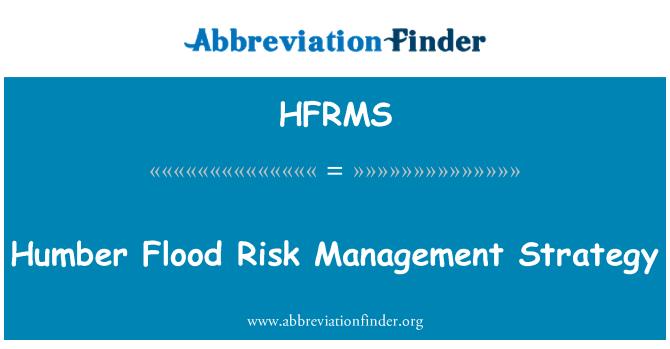 HFRMS: Humber Flood Risk Management Strategy