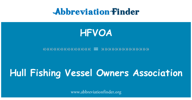 HFVOA: Hull Fishing Vessel Owners Association
