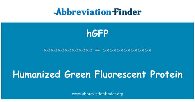 hGFP: Humanized zeleni fluorescentni Protein
