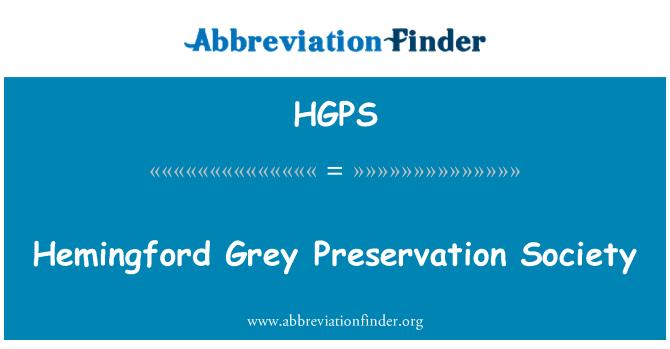 HGPS: Hemingford Grey Preservation Society