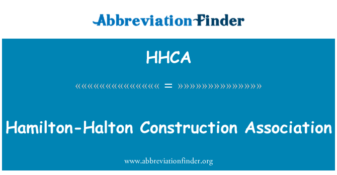 HHCA: Hamilton-Halton Construction Association