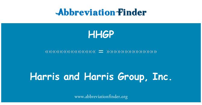 HHGP: Harris ja Harris Group, Inc