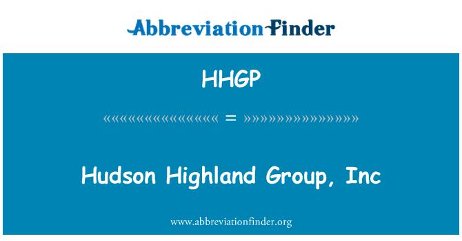 HHGP: Hudsoni Highland Group, Inc