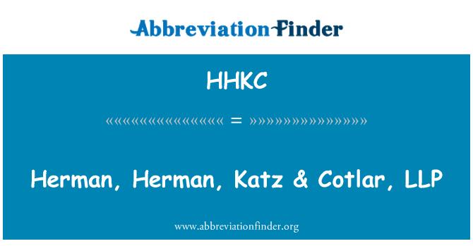 HHKC: Herman, Herman, Katz & Cotlar, LLP