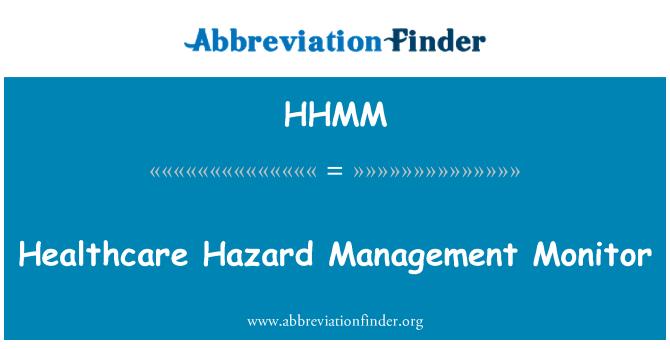 HHMM: Tervishoiuteenuste ohu haldamise Monitor