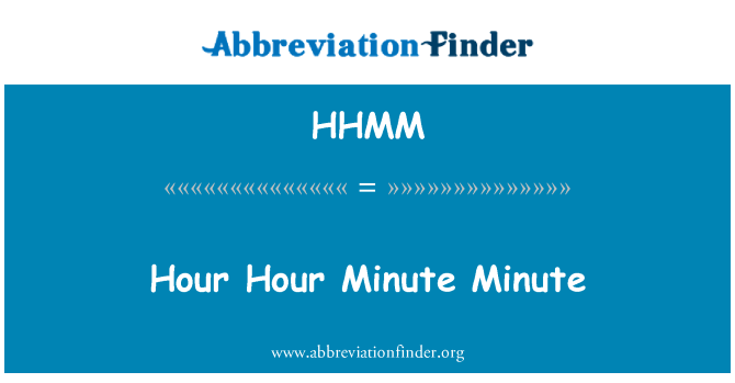 HHMM: Saat saat dakika dakika