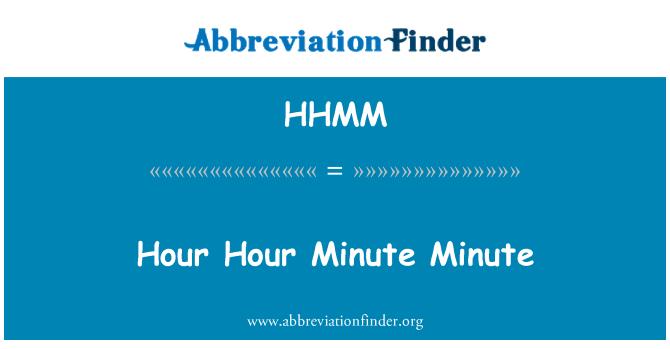 HHMM: Tund tund minut minuti