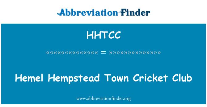 HHTCC: Hemel Hempstead Town Cricket Club